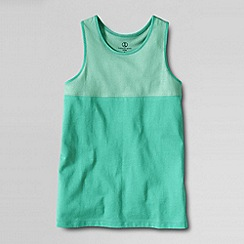 Lands' End - Green little girls' pieced racerback tank top