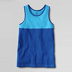 Lands' End - Blue little girls' pieced racerback tank top