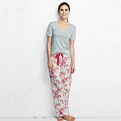 Lands' End - Grey women's cotton/modal short sleeve pyjama top