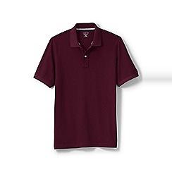 Lands' End - Red tall short sleeve original pique polo shirt