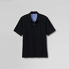 Lands' End - Black tall  short sleeve original pique polo shirt