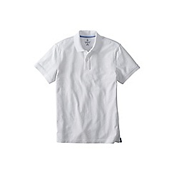 Lands' End - White men's short sleeve original pique polo shirt