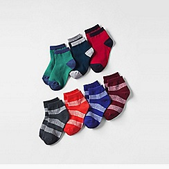 Lands' End - Blue boys 7pk socks