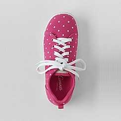 Lands' End - Pink youth canvas trainers