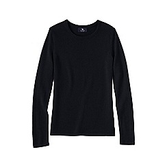 Lands' End - Black women's plus classic cashmere long sleeve jumper
