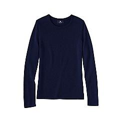 Lands' End - Blue women's plus classic cashmere long sleeve jumper