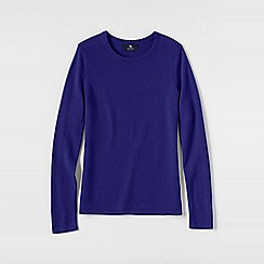 Lands' End - Purple women's plus classic cashmere long sleeve jumper