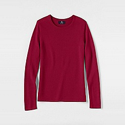 Lands' End - Pink women's plus classic cashmere long sleeve jumper