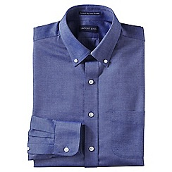 Lands' End - Blue men's slim fit easy-iron button-down supima oxford shirt