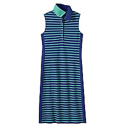 Lands' End - Blue women's sleeveless pattern polo dress