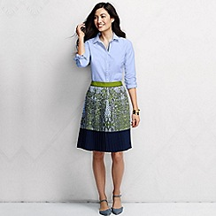 Lands' End - Multi women's regular pleated patterned skirt