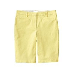 Lands' End - Gold regular bermuda chino shorts