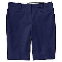 Lands' End - Blue regular bermuda chino shorts