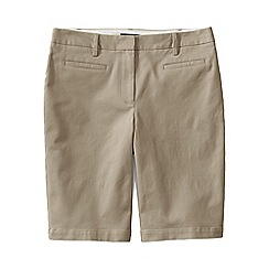 Lands' End - Beige regular bermuda chino shorts