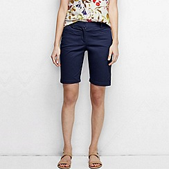 Lands' End - Blue women's regular bermuda chino shorts