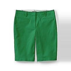 Lands' End - Green regular bermuda chino shorts
