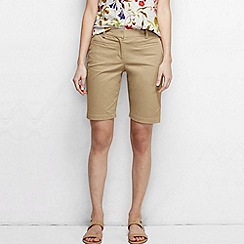 Lands' End - Beige women's regular bermuda chino shorts