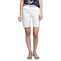 Lands' End - White women's regular bermuda chino shorts