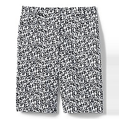 Lands' End - Multi mid rise patterned bermuda shorts