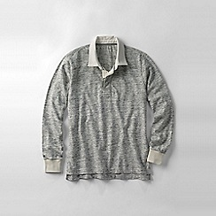 Lands' End - Grey men's novelty jersey rugby shirt
