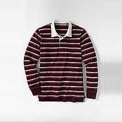 Lands' End - Red men's striped novelty rugby shirt