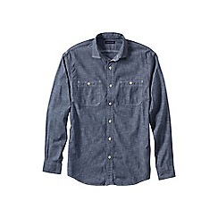 Lands' End - Blue traditional fit shipyard chambray shirt