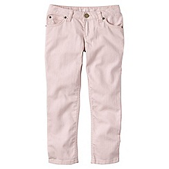 Lands' End - Pink little girls' 5-pocket coloured denim capri trousers