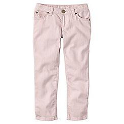 Lands' End - Pink little girls' 5-pocket coloured denim capri trousers