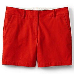 Lands' End - Orange regular low rise chino shorts