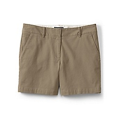 Lands' End - Beige regular low rise chino shorts