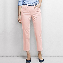 Lands' End - Pink women's regular cropped stretch chinos