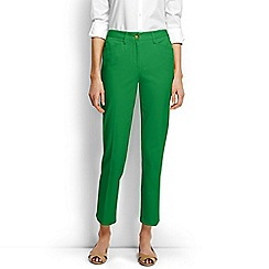 Lands' End - Green regular cropped stretch chinos