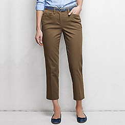 Lands' End - Beige women's regular cropped stretch chinos