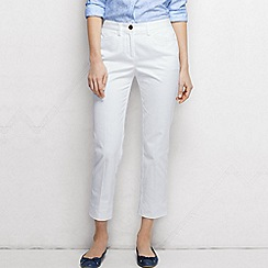 Lands' End - White women's regular cropped stretch chinos