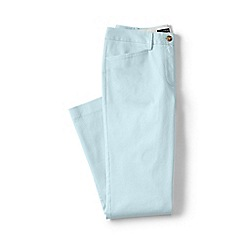 Lands' End - White regular cropped stretch chinos