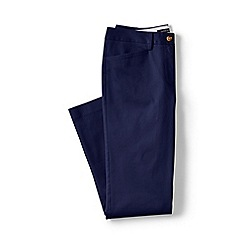 Lands' End - Blue petite cropped stretch chinos