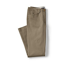Lands' End - Plus size Beige regular cropped stretch chinos