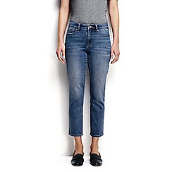Lands' End - Blue mid rise denim medium cropped trousers