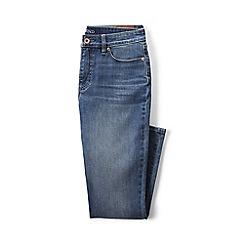 Lands' End - Plus-size blue mid rise slim leg cropped jeans