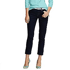 Lands' End - Blue women's mid rise indigo cropped jeans