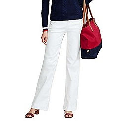 Lands' End - White women's mid rise white denim jeans