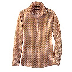 Lands' End - Beige regular patterned supima non iron shirt