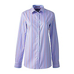 Lands' End - Blue regular patterned supima non iron shirt