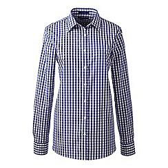 Lands' End - Blue regular patterned supima non iron shirt