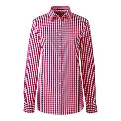Lands' End - Pink regular patterned supima non iron shirt