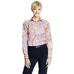Lands' End - Multi regular patterned supima non iron shirt