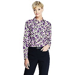 Lands' End - Purple regular patterned supima non iron shirt