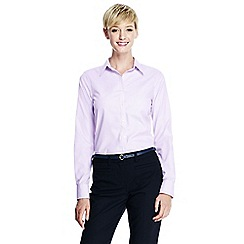 Lands' End - Purple women's regular patterned supima non iron shirt