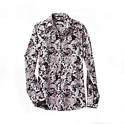 Lands' End - Pink regular patterned supima non iron shirt