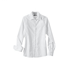 Lands' End - White women's regular patterned supima non iron shirt